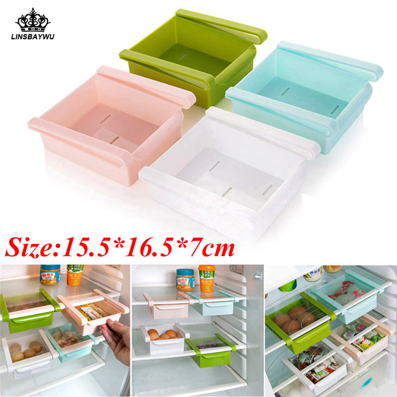 Hot Sale Slide Kitchen Storage Boxes durable Fridge Freezer Space Saver Organizer Storage Rack Shelf Holder Drawer Free Shipping guou watch women luxury rose gold ladies watch auto date full steel quartz watch wristwatch fashion reloj mujer relogio feminino