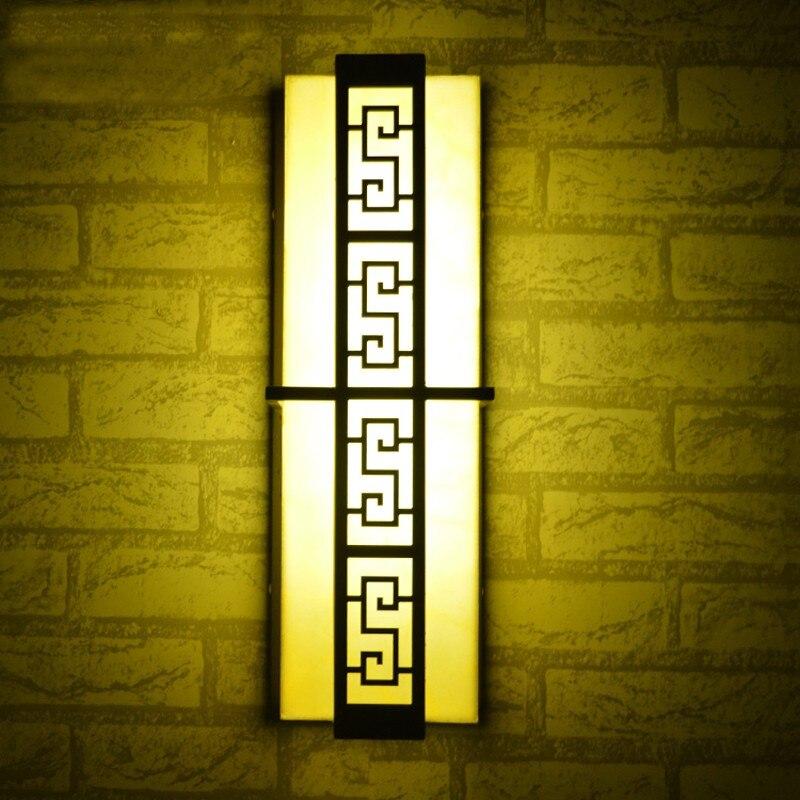 Классический китайский стиль, открытый настенный светильник светодиодный настенное крепление снаружи бра путь пейзаж проходу огни Светод