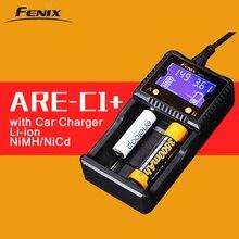 Оригинальный Fenix ARE-C1 + Интеллектуальный Батарея Зарядное устройство Поддержка AC DC зарядки 2 слота Smart Зарядное устройство для литий-ионная Ni-MH Ni- CD 18650 AAA