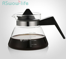 Heat-resistant Glass Teapot Hand-washed Coffee Pot Small Cute Flower 400ML Cups For Set
