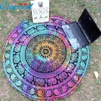 Popular Stylelish Round Beach Pool Home Shower Towel Blanket Table Cloth Yoga Mat Jan19