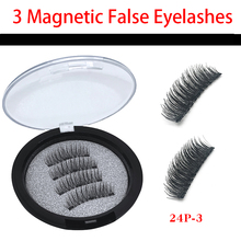 DAMMAN 3 magnetic mink eyelashes 3D/6D magnet false lashes natural long lashes 4 pcs/1 pair new design hot sell easy to wear