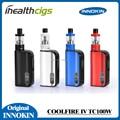 100% original innokin coolfire iv tc 100 w bateria com isub v tanque 3300 mah fogo fresco 4 tc 100 w bateria mod