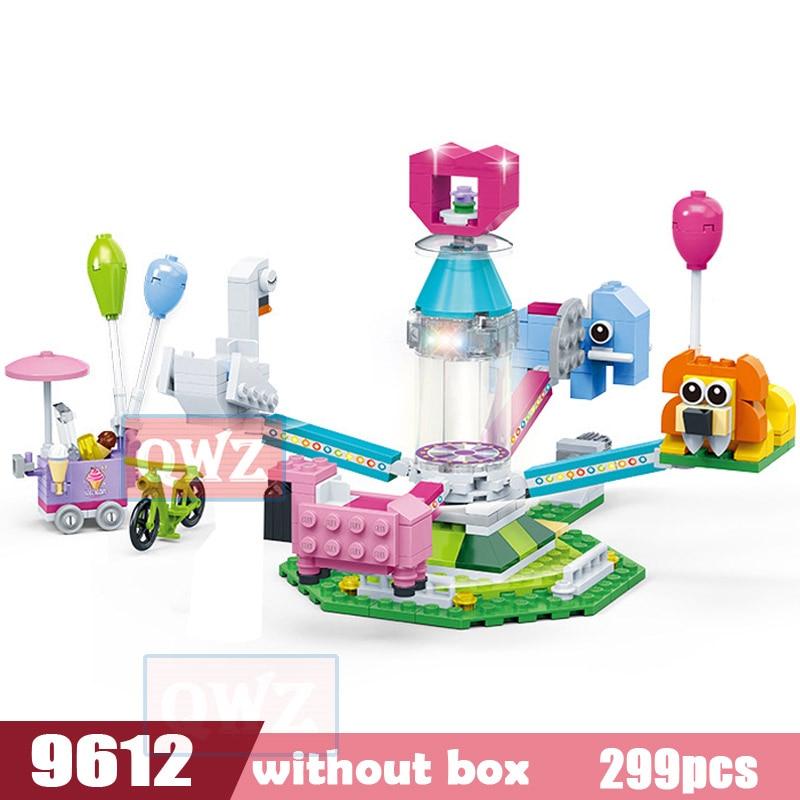 Legoes город девушка друзья большой сад вилла модель строительные блоки кирпич техника Playmobil игрушки для детей Подарки - Цвет: 9612 without box