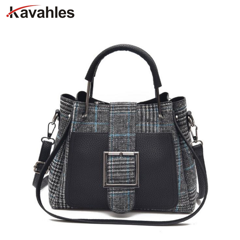 New Arrival High Quality PU Leather Women Bag Shoulder Bags Plaid Handbag Large Capacity Metal Top-handle Tote Bags  PP-1189 high quality authentic famous polo golf double clothing bag men travel golf shoes bag custom handbag large capacity45 26 34 cm