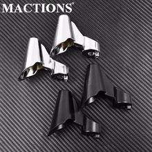 Motorcycle Front Movement Indicator Shifters Sets For Harley Sportster XL1200X Models 2011 2012 13 14 15 Black & Chrome Aluminum