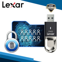 Lexar usb3.0 32g 64g 128g u 디스크 jumpdrive 10 지문 ids f35 usb 3.0 암호화 보안 256 비트 aes 150 메가바이트/초 easy set-up