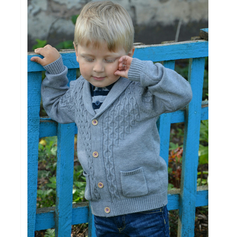New 12M to 3T baby & kids boys shawl collar casual knitted sweater  DK02