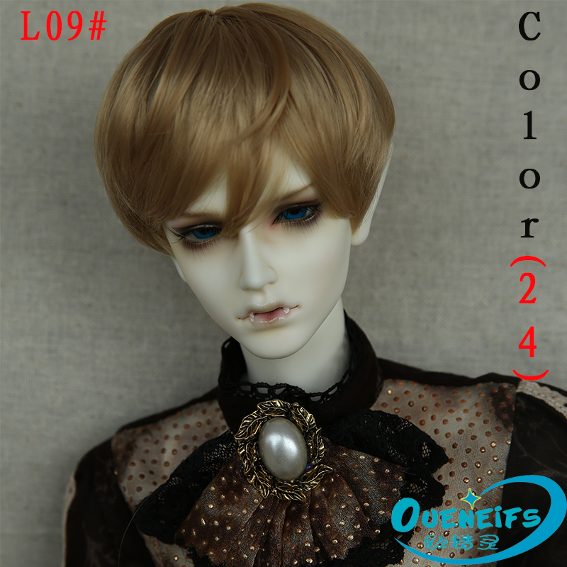 Wig For BJD Doll free shipping 9-10 inch 1/3 handmade diy wig boy short wig bjd sd doll Wig with bangs fashion type stylish hair women s stylish short adiors high temperature fiber wig
