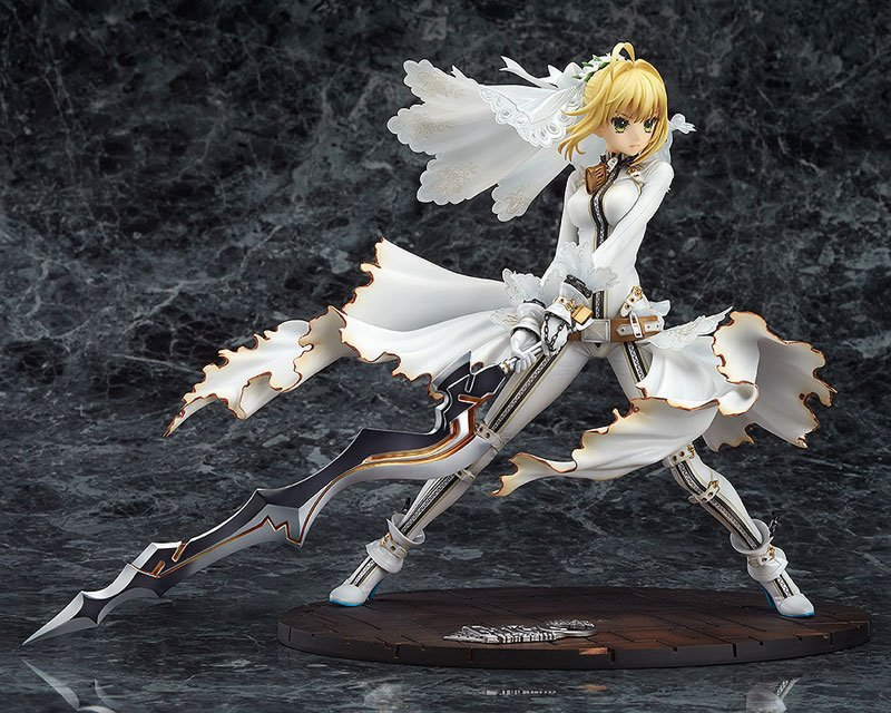 Fate Stay Night Wedding Dress Ver. Saber Action Figure 1/7 scale painted figure Saber Lily Doll PVC figure Toy Brinquedos Anime 1pcs ptfe round sheet teflon plate polytef plate size dia 5 08cm thickness 1 1cm