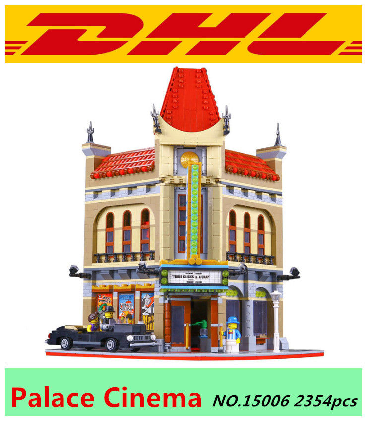 2016 New LEPIN 15006 2354pcs Palace Cinema Model Building Blocks set toys figures Bricks Toys Compatible with 10232 Gift lepin 02012 city deepwater exploration vessel 60095 building blocks policeman toys children compatible with lego gift kid sets