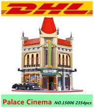2016 Новый ЛЕПИН 15006 2354 шт. Дворец Кино Модель Строительные Блоки набор игрушек цифры Кирпичи Игрушки Совместим с 10232 Подарков