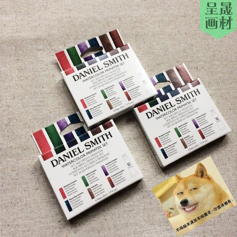 Daniel Smith DS база/минеральный Цвет 6 цветов Акварельная краска Alvaro Castagnet's Master Набор для художников 5 мл Каждая трубка живопись