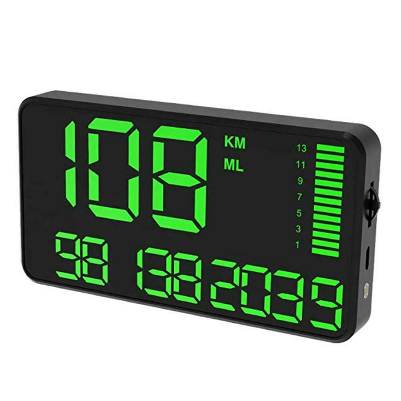 1pc nouveau compteur de vitesse C90 GPS HUD noir 130*72*18mm DC5V HUD dispositif d'affichage tête haute avertissement de vitesse accessoires pièces pour voitures