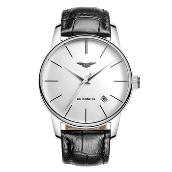 Reloj Hombre GUANQIN Japanese Automatic Self-Wind Date Watch Mens Top Brand Luxury Steel Leather Wristwatch relogio masculino