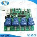 4 dígitos segundo con monedas tarjeta del temporizador para 1-4 dispositivos de máquinas, tiempo de control de pcb con todos los cables