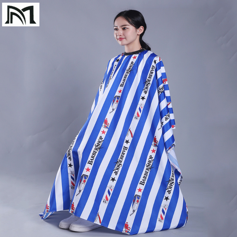145*160 cm Molticolor Polyester Salon Wrap Apron Stripe Leisure Style Peri Cloth Water-repellent Cape Hairdressing Assistant B2