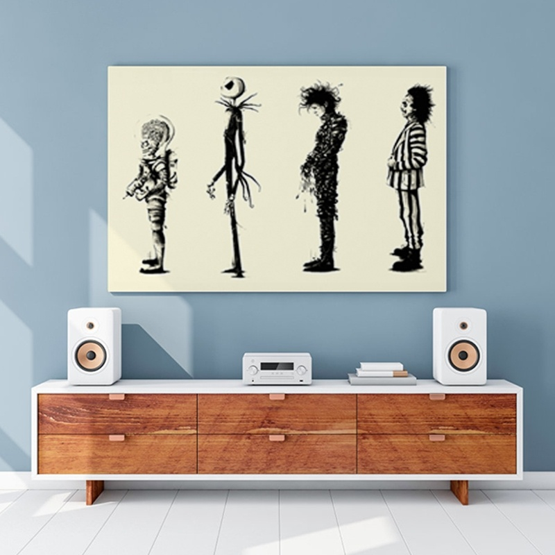 Home Decr Painting Tim Burton Movie Beetlejuice Edward Scissorhands Movie Poster HD Print Poster Wall Art Pictures