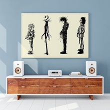 Home Decr Painting Tim Burton Movie Beetlejuice Edward Scissorhands Poster HD Print Wall Art Pictures