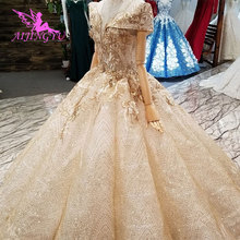 AIJINGYU Muslim Wedding Dresses Plain Saudi White Gowns