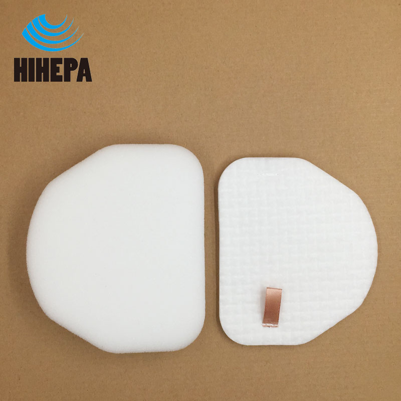 2Pcs Vacuum Cleaner Foam Felt Filters for Shark Rotator NV450 NV200/200C NV200Q NV201 NV202/202C NV472 NV480 fit Model XFF450 foam felt filter kit for shark rotator powered lift away xl capacity nv755 uv795 vacuum cleaner replacement