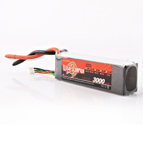 Wild Scorpion 11.1V 3000MAH 60C lipo battery AKKU for Trex T-REX 450 rc helicopter  +free shipping  цена и фото