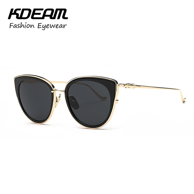 Kdeam New Metal Frame Luxury Oval Sunglasses Women Brand Design Vintage Sun Glasses Decoration Classic Eyewear With package 4045