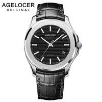 AGELOCER Швейцарский запас энергии мужские часы в деловом стиле автоматические мужские спортивные черные часы Механические Мужские часы Relogio