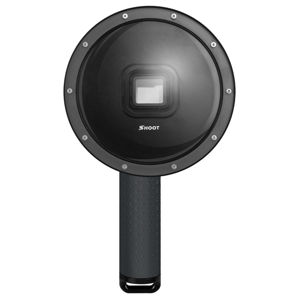 все цены на Shoot 6 inch 40m Dome Lens Hood Dome Port for Gopro Hero 6/Hero 5/HERO (2018) Action Cameras Diving Underwater Sport онлайн