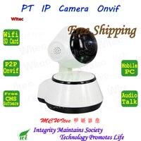 WI-FI 720 P ИК-светодиодов pt Камера ONVIF ночной вид P2P IP Cam ИК-сеть видеонаблюдения Baby Care камеры для 128 г sd-карта Live Talk