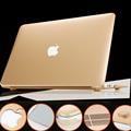 Logotipo Cutput Ouro Sliver Mangas Caso Capa Para Mac Book Air 11 13 laptop saco protetor casos para macbook pro 13 15 17 retina