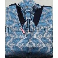 ホット卸売安いメンズスーツ高品質のチョッキ4ピー