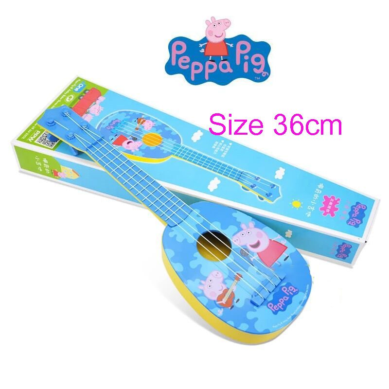 "2018 New Genuine Peppa Pig George 36cm/14"" Children Musical Instruments Toy Ukulele Guitar Education Birthday Gifts For Kids"
