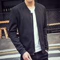 New 2016 england style fashion solid color terylene crease-resist casual jacket men veste homme men's clothing size m-3xl /JK19