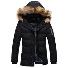 New Brand Clothing Winter Men Jacket Fashion Mens Winter Parka With Fur Hood Casual Warm Men's Coats Thick Long Parkas