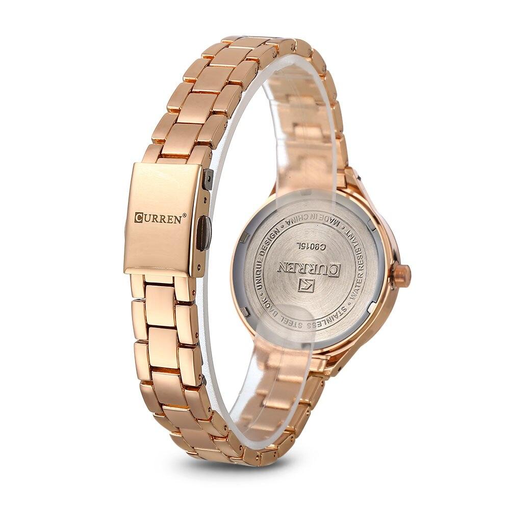 CURREN 9015 Reloj de Oro Rosa Mujer Señoras Creativas Mujeres de ... 7ae7816dc3d0