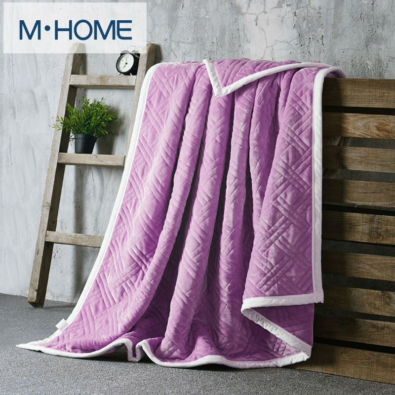 Luxury High Quality Flannel Blankets Upset Composite Throw Solid Color Sofa/bedding  Throws Flannel Blanket
