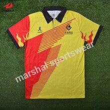 Top quality 100 polyester grade original sublimation custom soccer tee shirt