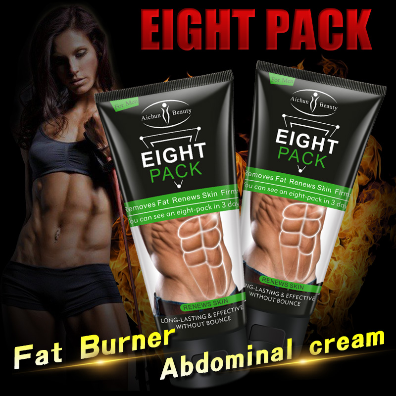 Men Eight Pack Stronger Muscle Cream Waist Torso Smooth Lines Press Fitness Belly Burning Muscle Fat Remove Weight Loss