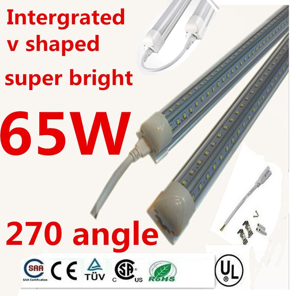 Fedex Ship Led T8 Tube 4ft 28w 2835 G13 Fa8192 Leds Light Lamp Bulb Circuit Images 20pcs Intergrated V Shaped 8ft 24m 2400mm 65w 7000lm
