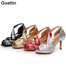 цена на Women's Latin Dance Shoe 4types Heel Latin Tango Salsa Tango Dance Shoes Girls Sandals