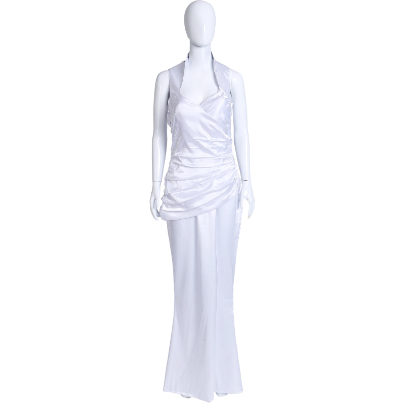 Final Fantasy XV FF 15 Lunafreya Nox Fleuret Cosplay Costume Anime Custom Made White Dress