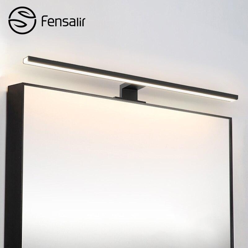 Fensalir 0.6-0.8 m lámpara de pared inodoro 8 W/11 W/13 W led luces del espejo delantero baño moderno montado bar maquillaje Iluminación LED regulable