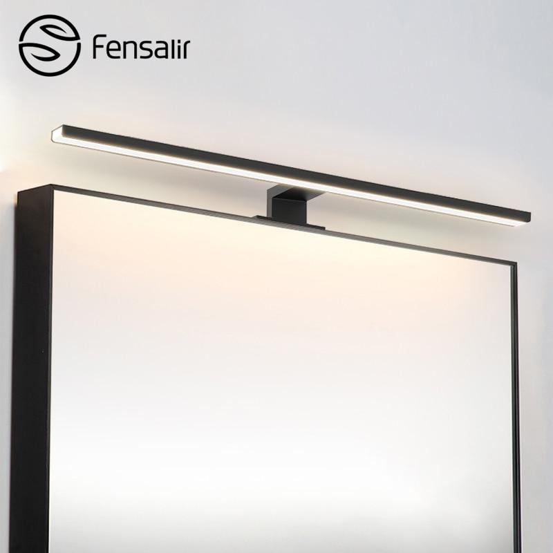 Fensalir 0.6-0.8m applique toilette 8 W/11 W/13 W LED miroir avant lumières moderne monté salle de bain bar maquillage LED éclairage Dimmable