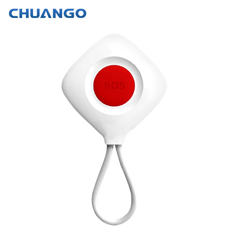 chuango Radio frequency SOS-100 Wireless Panic Button Emit Sound For 315Mhz Home Alarm System 2 receivers 60 buzzers wireless restaurant buzzer caller table call calling button waiter pager system