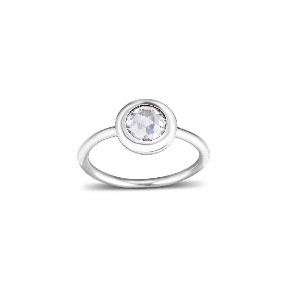 Radiant แหวน 100% เงิน 925 Clear CZ จัดส่งฟรี
