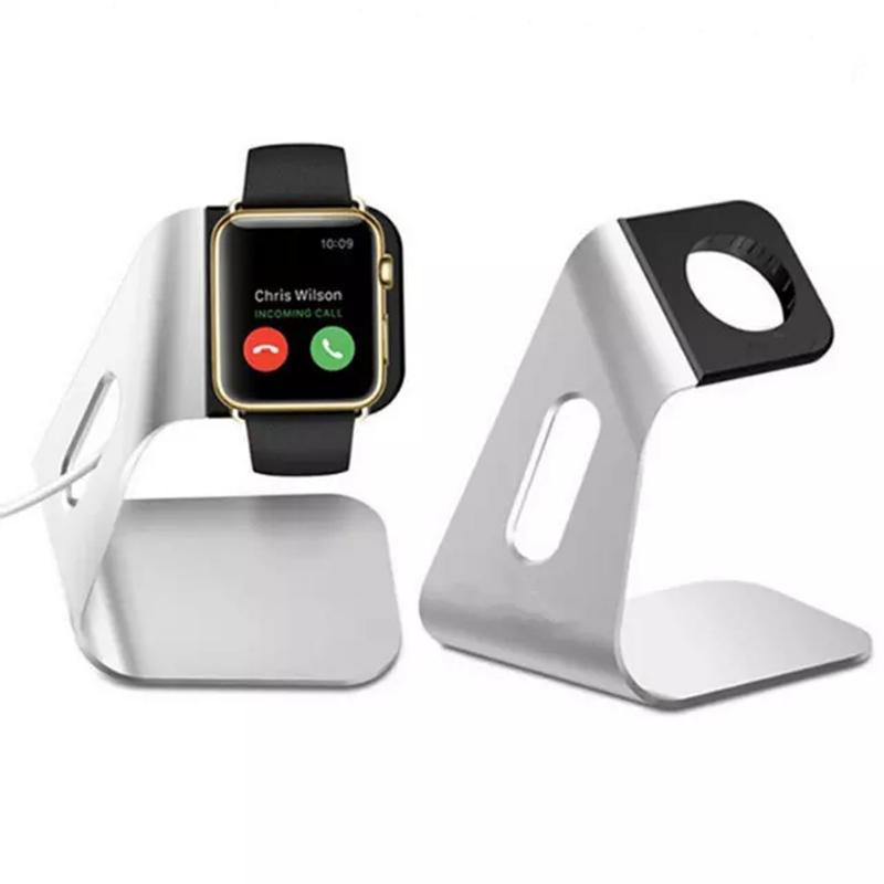 Prix pour Métal En Aluminium Or Argent Noir Chargeur De Bureau Stand pour Apple Watch De Charge Titulaire Dock Station I166.