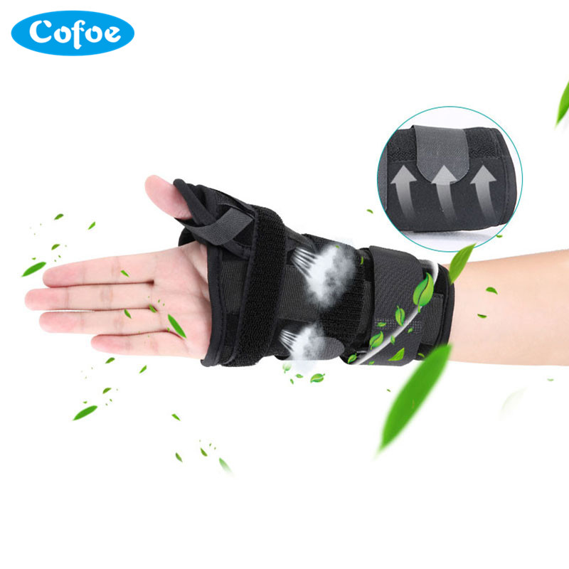 Cofoe Thumb Wrist Fixed Belt Band Strap Protect Wrist Joint Medical Pressure Bandage Tenosynovitis Cyst Breathe Heat Dissipation