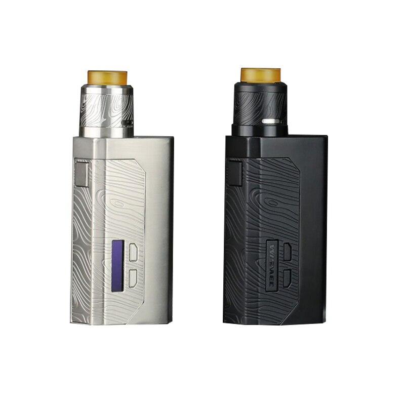 Date D'origine Wismec LUXUEUX MF BOÎTE Mod Squonk Kit 100 w Kit Fit 21700/18650 cellulaire Vaporisateur Avec Guillotine V2 vs luxueux BF