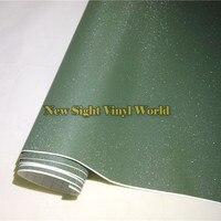 Высокое качество Военный Зеленый Bling песок алмаз виниловая наклейка лист пузырь бесплатно телефон ноутбук наклейка крышка Размер: 1,52*30 м